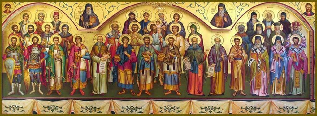 Неделя всех святых праздничная икона