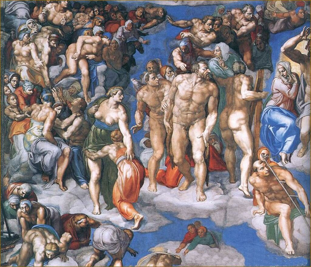 Страшный Суд Божий на картине Микеланджело