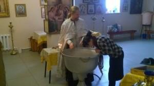 Крещение взрослого человека в Тюльгане