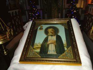 Праздничная икона Серафима Саровского в Тюльгане
