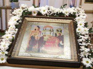 Всенощное бдение праздничная икона Сретение Господне в Тюльгане