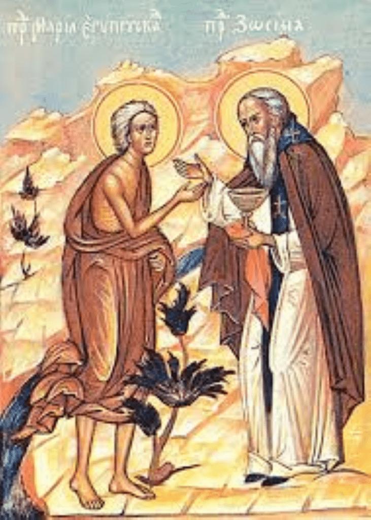 Мария Египетская и старец Зосима