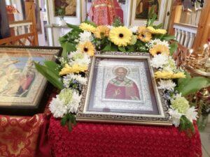 Перенесение мощей Николая Чудотворца 22 мая праздничная икона в Тюльгане