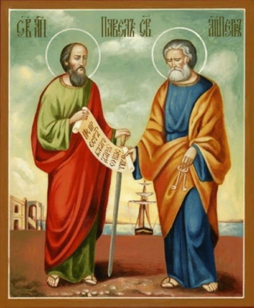 Праздник апостолов Петра и Павла икона